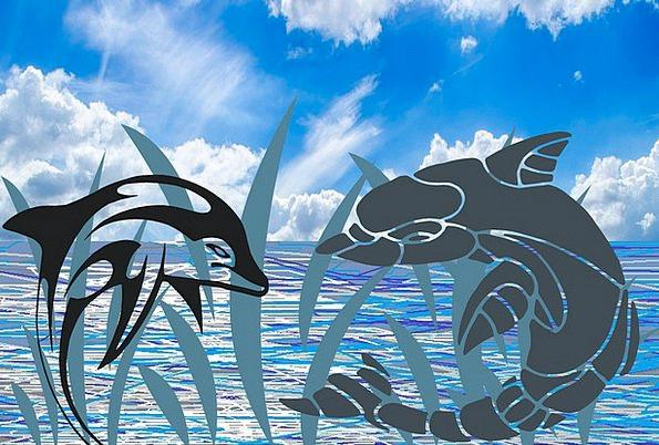 Dolphins Fish Angle Marine Mammal Sea Leaping Jump