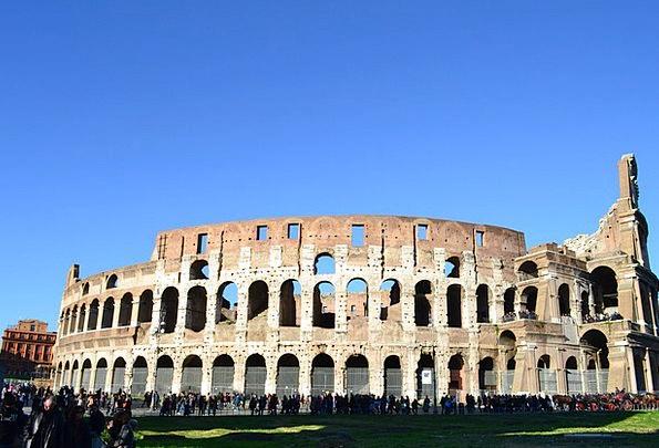 Coliseum Italy Rome Arches Arcs Arcades Colonnades