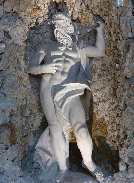 Stone Figure Man Gentleman Neptune Statue Figurine