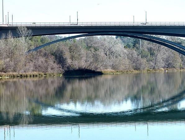 Bridge Bond Buildings Aquatic Architecture Reflect