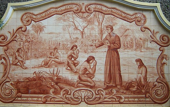 Padre Anchieta Catechesis Indians Decorated Tiles