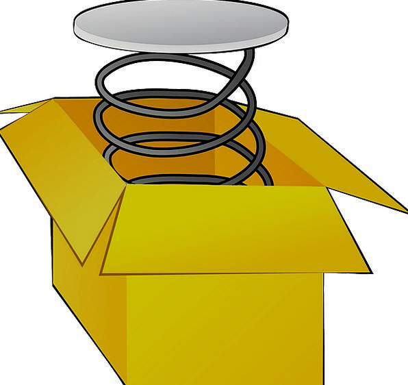 Spring Coil Container Ampule Box Fun Amusing Elast