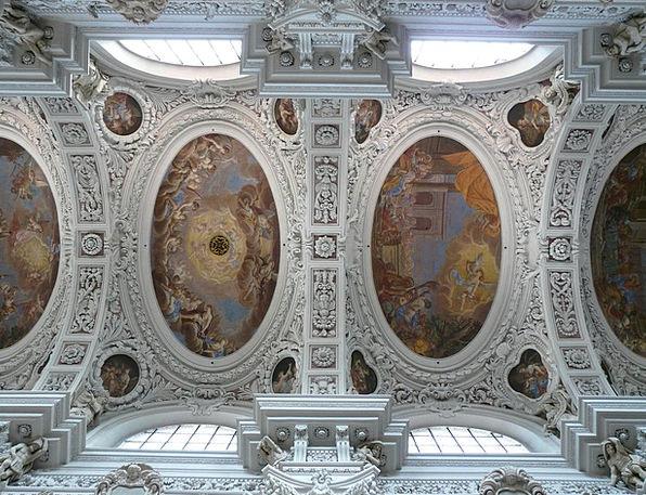 Stucco Ceiling Comprehensive Frescoes Murals Blank