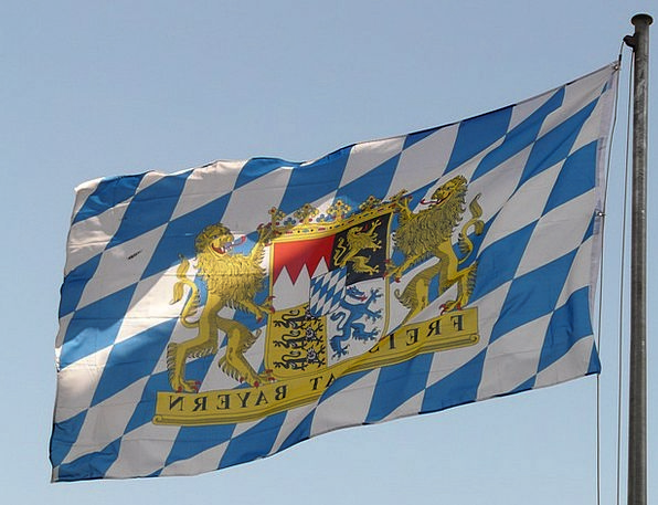 Bavarian Flag Standard Bavaria Flag Germany Blue R