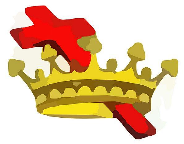 Crown Top Irritated King Monarch Cross Royal Regal
