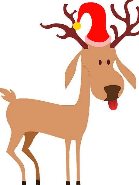 Reindeer Christmas Santa Clause Cap Lid Free Vecto