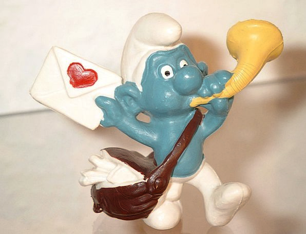 Smurf Love Letter Billet-doux Smurfs Envelope Cove