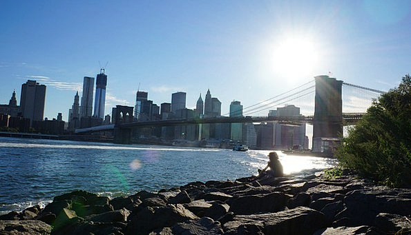 Bridge Bond Buildings Architecture Manhattan Sun C