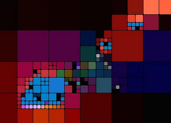Colorful Interesting Digital Numerical Desktop Bac
