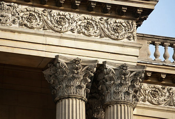 Corinthian Columns Buildings Architecture Baluster
