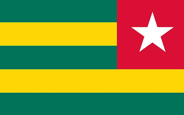 Flag Standard Togolese Republic Togo Bottom West A