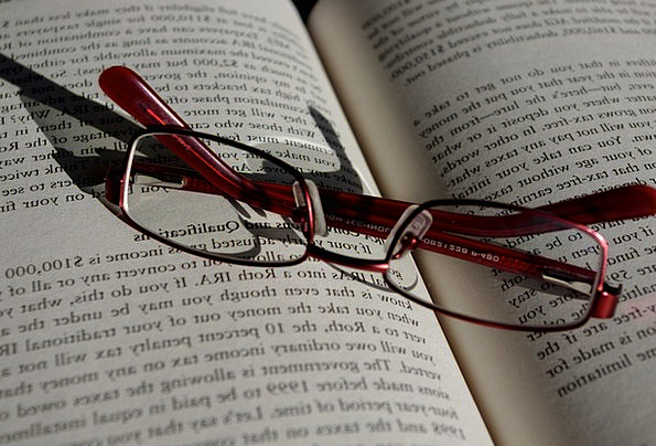 Folded Doubled Spectacles Book Volume Glasses Word