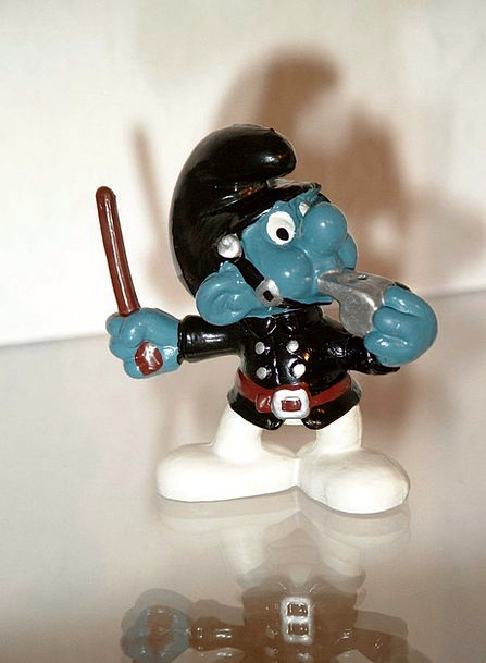 Smurf Officer Uniform Unchanging Constable