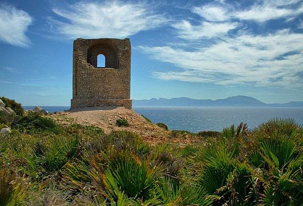 Mediterranean Shore Watchtower Lookout tower Coast