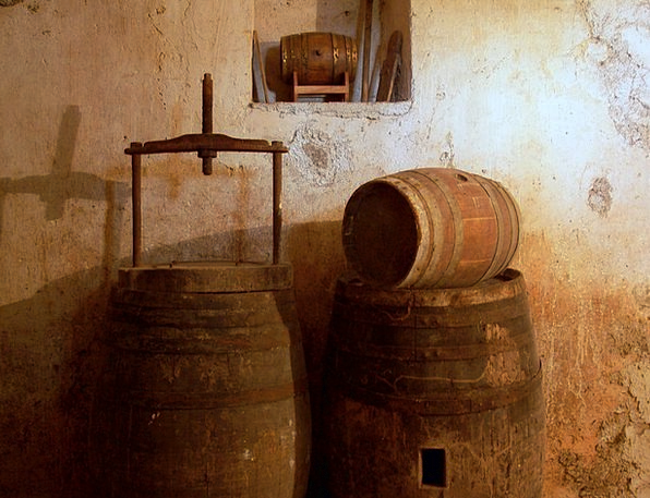 Cellar Basement Mauve Botte Wine Wine Barrels Barr