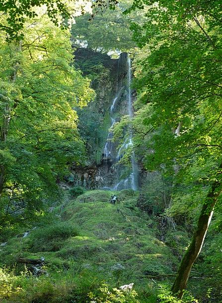 Waterfall Cascade Landscapes Aquatic Nature Urach