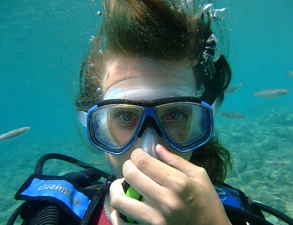 Diving Headfirst Fashion Beauty Rhodes Greece Woma