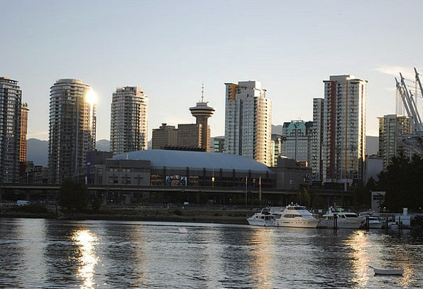 Vancouver Skyscrapers Towers Canada Abendstimmung