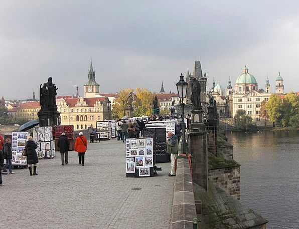 Charles Bridge Buildings Architecture Czech Republ