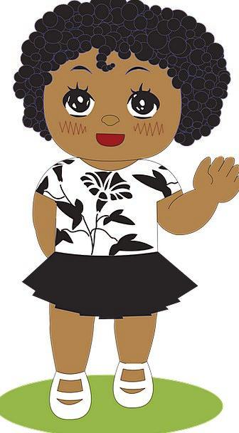Little Girl Lassie African Girl Black Dark Biracia