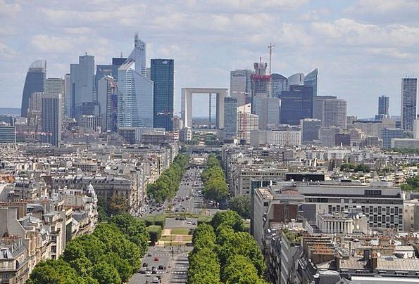 Paris Buildings Architecture Panorama View The Arc
