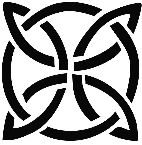 Celtic Textures Lump Backgrounds Silhouette Outlin