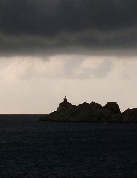 Stormy Wild Landscapes Marine Nature Dark Dim Sea