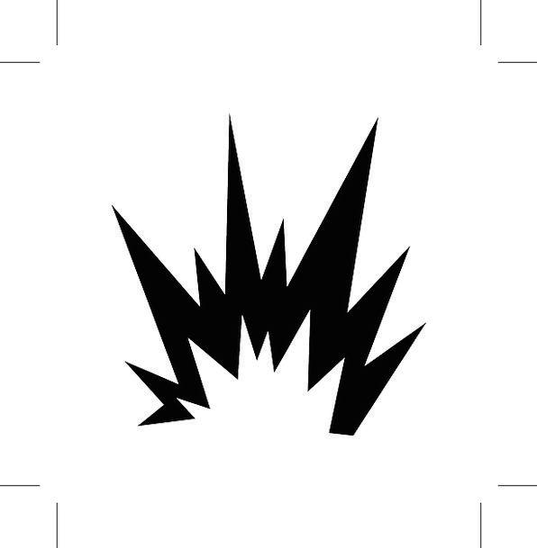 explosion hazard warning symbols