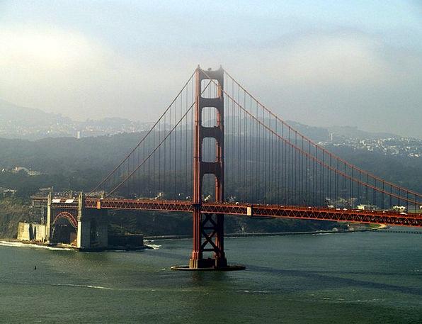 Golden Gate Bridge Landscapes Nature California Sa