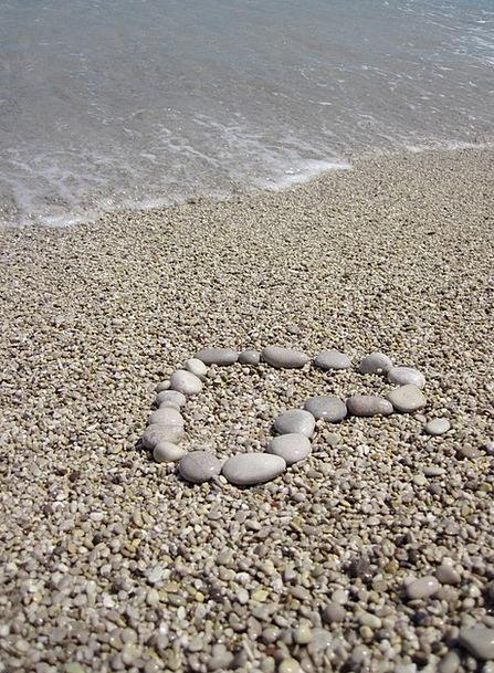 Beach Seashore Vacation Part Travel Heart Emotion