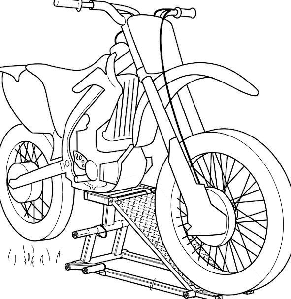 Motorcycle Draft Black Dark Sketch Driving Motorbi