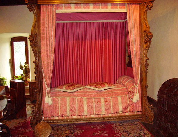 Bed Divan Castle Vianden Middle Ages Sleep Slumber