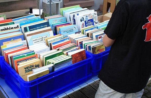Flea Market Market Records Box Container Books Bro