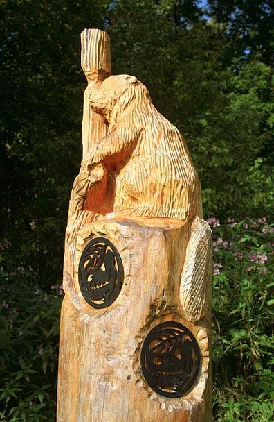 Carving Model Beaver Work Wood Carving Art Mammal