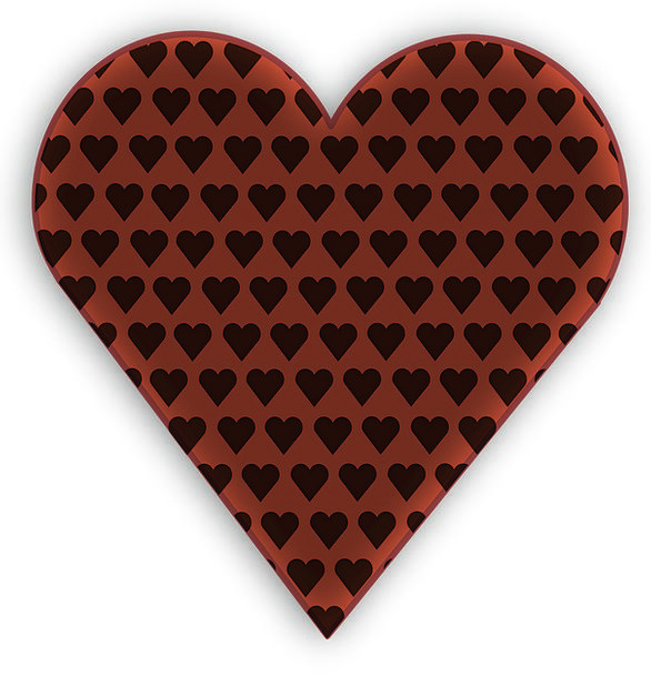 Hearts Emotions Chocolate Love Darling Brown Dark