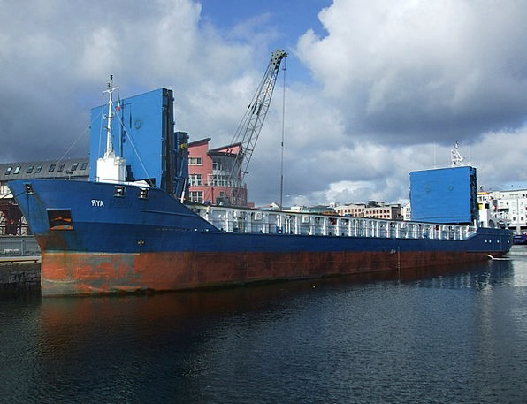 Cargo Ship Craft Industry Galway Docks Galway Dock