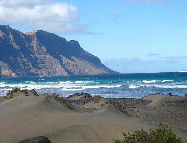Spain Vacation Travel Coast Shore Lanzarote Sea Ma