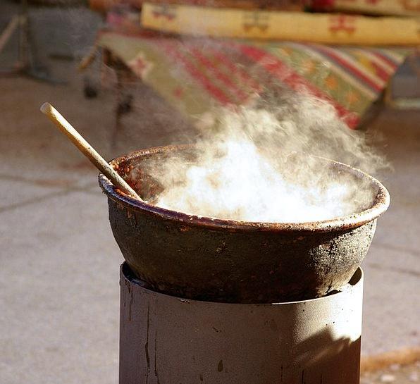 Cauldron Smoke Burn Copper