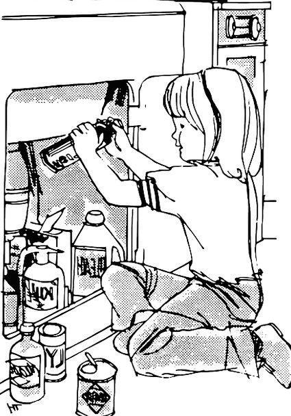 Poison Fatal Hazard Girl Lassie Danger Detergent C