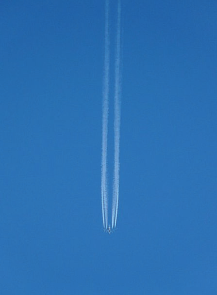 Aircraft Airplane Vacation Hover Travel Contrail F