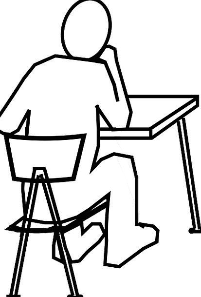 school chair drawing. desk counter chairperson man gentleman chair think school drawing