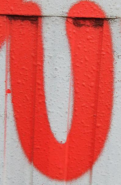 Letter Communication Red Bloodshot U On The Side O