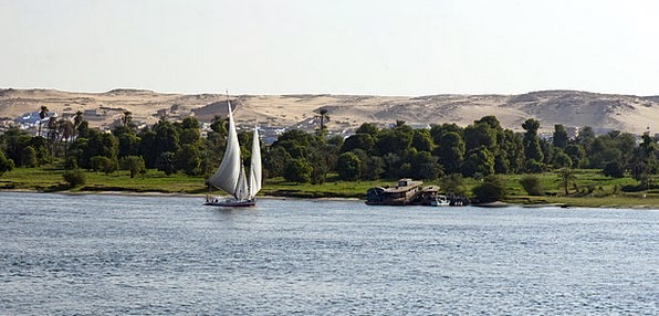 River Nile Landscapes Nature Sailboat Dinghy Egypt