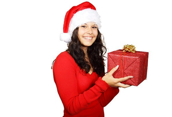 Box Container Claus Christmas Red Cute Attractive