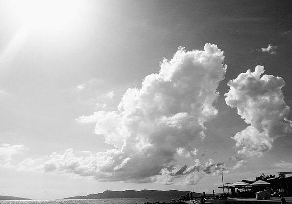 Change Alteration Blue Cloud Mist Sky
