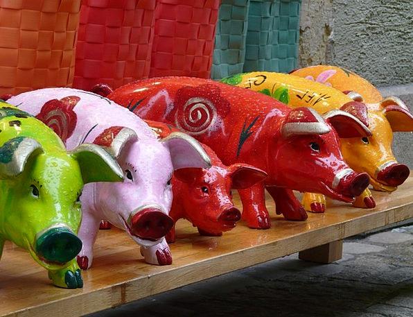Pigs Cattle Figures Statistics Pig Figurines Color