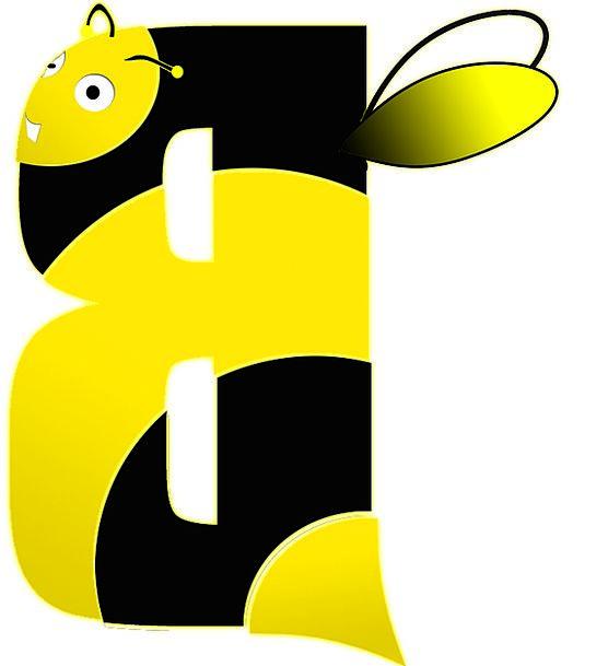 Bee Communication B Letter Alphabet Script School