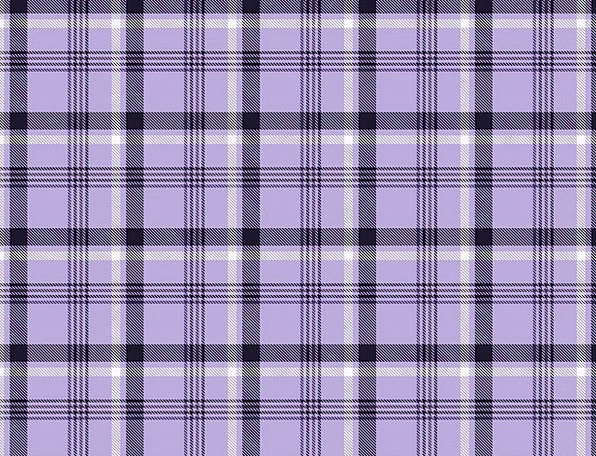 Gingham Elaborate Vintage Out-of-date Purple Retro