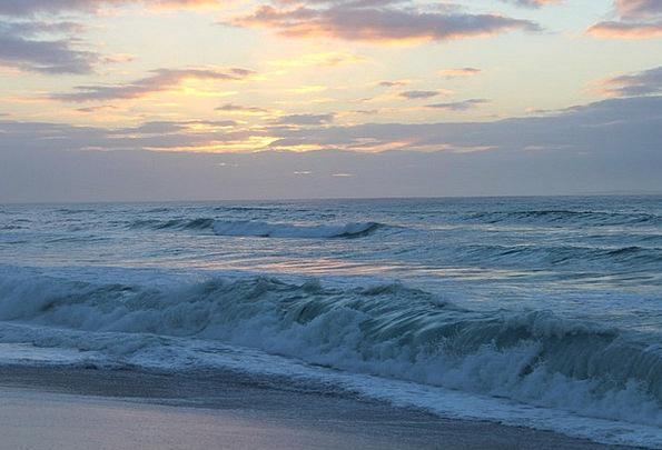 Ocean Marine Vacation Travel Surf Spray Evening Sk