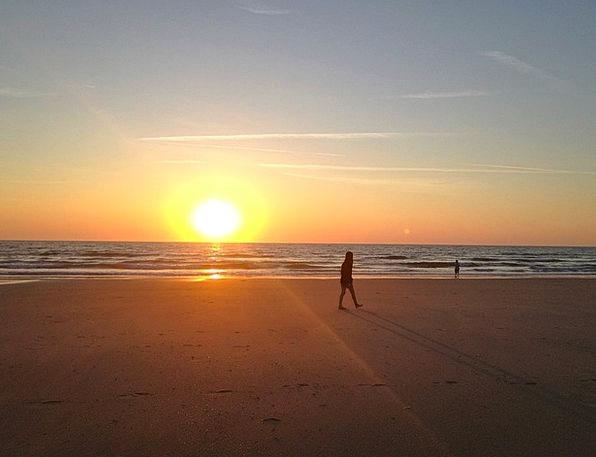 Beach Seashore Vacation Sundown Travel Abendstimmu